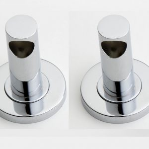 Udo End Pillars Chrome Pair Single