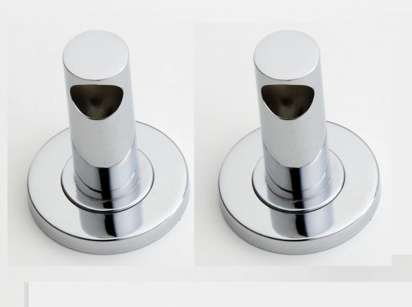 Udo End Pillars Chrome (Pair)