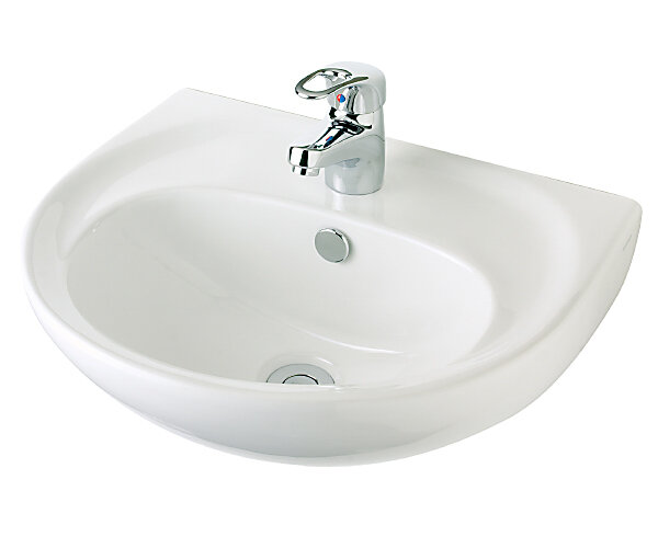 Vincent Wall Basin 480mm 1th White