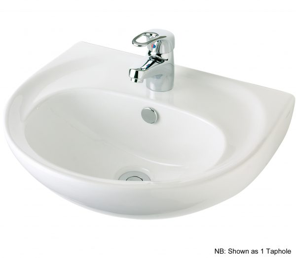 Vincent Wall Basin 480mm 3th White